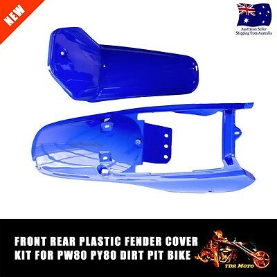Blue FRONT/REAR Plastic Fairing Kid for Yamaha PW80 PY80 PW/PY 80 PeeWee XMAS