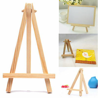 2/5/10 Mini Wooden Cafe Table Number Easel Wedding Place Name Card Holder Stand