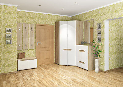 garderobe kleiderschrank mit spiegel garderobenstange buche kombination strahler eur 79 00. Black Bedroom Furniture Sets. Home Design Ideas