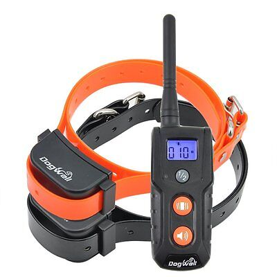 Rechargeable Waterproof Remote E-Collar NO STATIC SHOCK 2 Dogs Training Collar