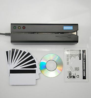 MSR605X Credit Card Reader Writer Magnetic Stripe Encoder Hico 3 Track 206 606