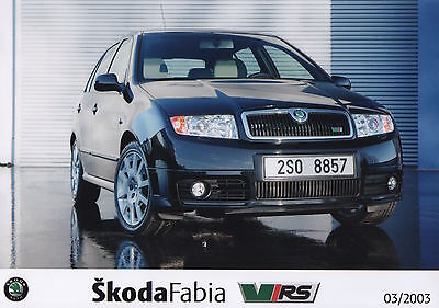 Skoda Fabia vRS Press Photographs x 3 - 2003