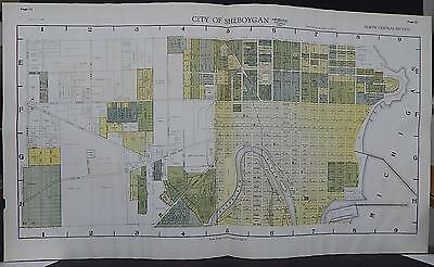 Wisconsin, Sheboygan County, 1941 City of Sheboygan - Four Double Page Maps S1