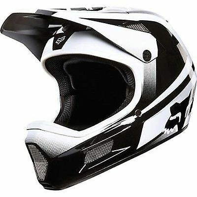 Fox Rampage Comp Imperial Full Face Helmet DH BMX Black White Small New