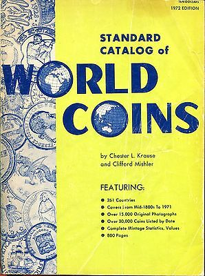 1972 Standard Catalog of World Coins - 1st Edition!  - Krause Publications