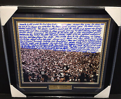 Rudy Ruettiger SIGNED AUTOGRAPHED STORY FRAMED 16X20 PHOTO STEINER COA