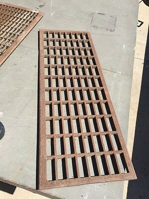 """Tl  1Cast-Iron Floor Grate As Found 31 X11 1/8"""""""