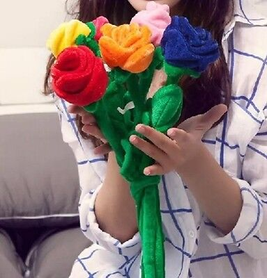 Lovely Rose Flower Plush Soft Toy Home Room Decoration Cartoon Plants Gift Love