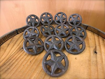 12 Brown Rustic Star Drawer Cabinet Pull Knobs Cast Iron Western Cowboy Hardware