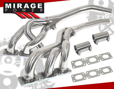 Ss Stainless Exhaust Manifold Header 92-99 For Bmw E36 3-Series M3 2.8/3.2L I6