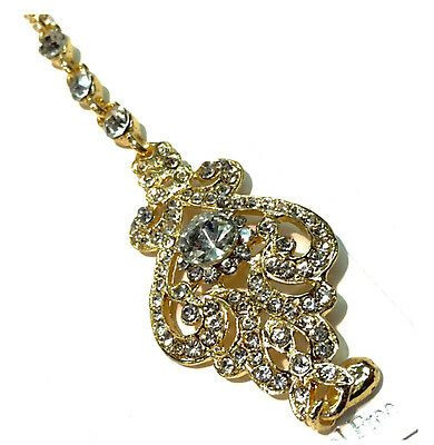 Snag Free Pin New Head Matha Patti Jewellery Chain Gold  Indian Tikka Head Tikka