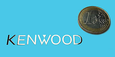 KENWOOD  METALISSED CHROME EFFECT STICKER LOGO AUFKLEBER 50x7mm [278]