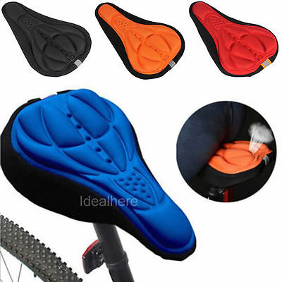 3D Pad Gel Silicone Soft Pad Seat Cover Cycling Bicycle MTB Bike Saddle Cushion