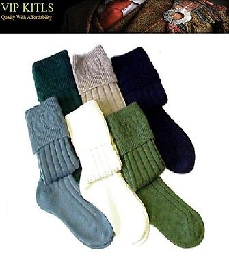 Wool Blend Morven Kilt Hose Socks For Adults White,creme,black,green,grey,blue