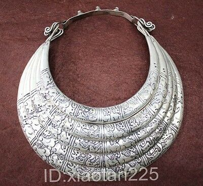 National style Guizhou Miao Silver Handmade Animal Necklace W2056