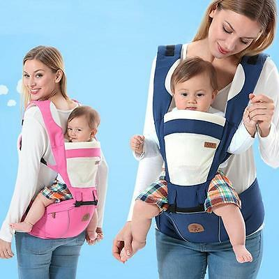 Newborn Hip Seat & Baby Carrier Breathable Ergonomic Wrap Sling Backpack 2 in 1
