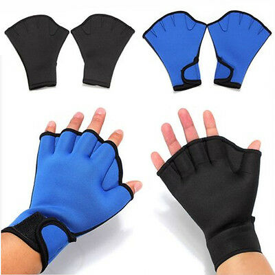 Fingerless Surfing Frog Webbed Gloves Swim Aid Paddle Water Swimming Gloves Hand