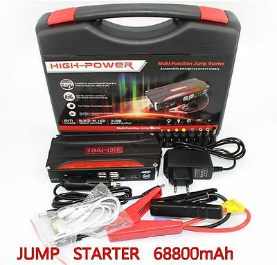 68800mAh Portable Power Bank 4 USB Vehicle Car Jump Starter Charger