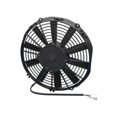 """Spal Thermo Fan 11"""" Pusher Electric 12v 806cfm Straight Blade Low Profile Design"""