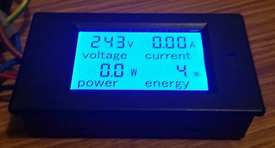 LCD Digital AC Volt/Amp/power/energy  Panel Meter  100A 80-260v with CT UK stock