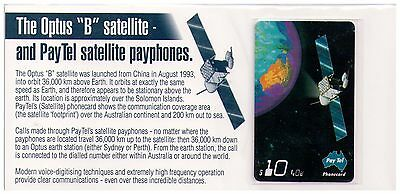 "Pay.Tel Phone Card Collectors' Pack - The Optus ""B"" Satelite - Mint"