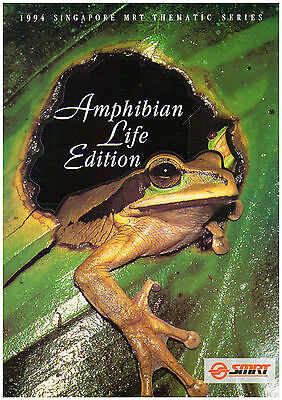 1994 Singapore MRT Themaic Series Phonecard Pack - Amphibian Life Edition