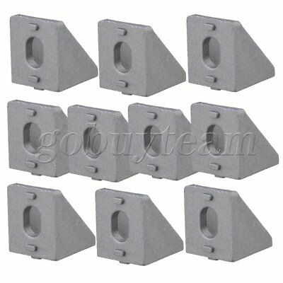 10Pieces Aluminium Corner Joint Right Angle Bracket Grey 20mm Furniture Fittings