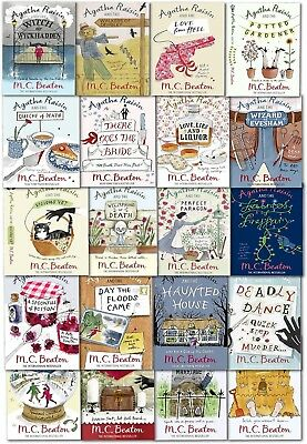 Agatha Raisin Series Collection 20 Books Set By M C Beaton