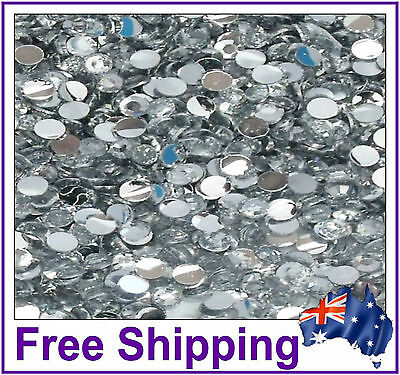 Rhinestones Resin FB 4mm ~ Clear ~ 500 Pack By Gypsy Bling ~ Free Post