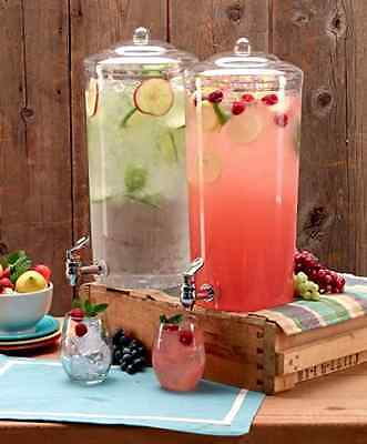 Gallon Chilled Beverage Dispenser Party Bar Cold Drink Punch Lemonade Tabletop