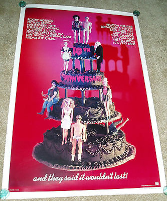 ROCKY HORROR PICTURE SHOW 10th ANNIVERSARY 1985 ORIGINAL MOVIE POSTER 27X41