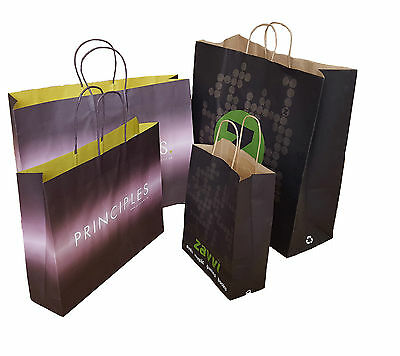 Misprinted Fashion Designer Paper Carrier Bags Strong Boutique Gift Shops S M XL