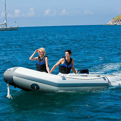 2.3m Large Inflatable Dinghy Boat, Oars & Pump - Hydro Force Caspian
