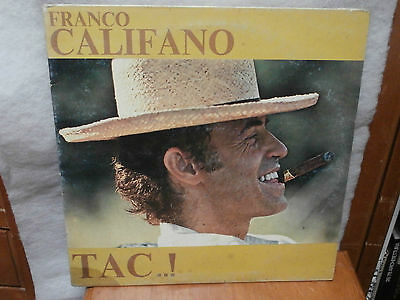 ** LP  FRANCO CALIFANO  TAC 1977 disco SMRL 6212 Ricordi **