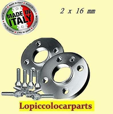 DAL 1998 * COPPIA DISTANZIALI DA 16mm PROMEX MADE IN ITALY PER FIAT 600 187