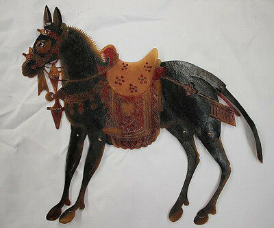 Restoring ancient ways  Chinese Cowhide Shadow Play Puppet--Donkey W1319
