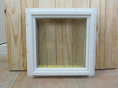 Square Double Pane 16 x 16 Window PVC Vinyl Home Tiny House Playhouse Sheds