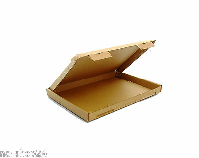 NEW 50 Pieces Large letter Boxes DIN A5 230x160x20 Folding cardboard brown 10x