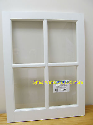 "Barn Sash Window PVC 22"" x 29""  Sheds Garages New White Traditional Style"