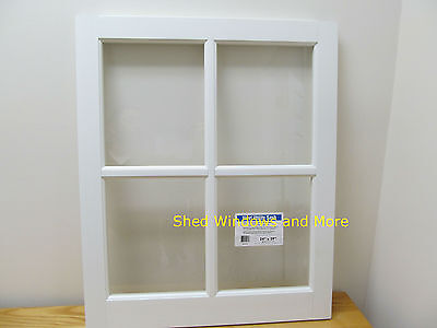"Barn Sash Window PVC 24"" x 29""  Sheds Garages New White Traditional Style"