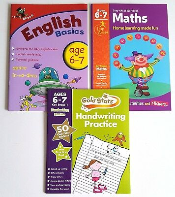 Leap ahead Maths and English Basics ages 6-7 + handwriting book 6-7