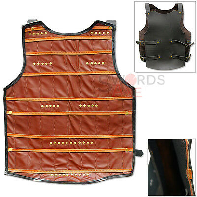Dwarven Coat of Plates Armor Thick Cordura Cuirrass Harness Front & Back Panels