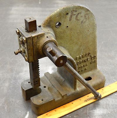 Famco Model 0 Arbor Press 1/2 Ton Benchtop Rack And Pinion Lever Press Used 005