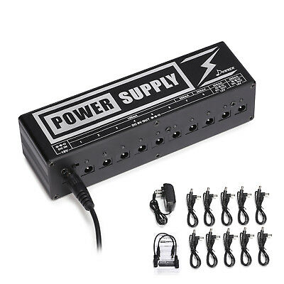Donner Pedal 10 Isolated Output 9V 12V Mini Guitar Effects Power Supply NEW