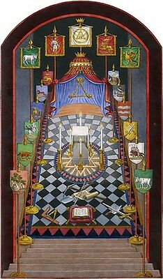 Harris Royal Arch Tracing Board masonic poster freemason artwork ring