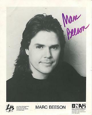"""Marc Beeson """"Burnin Daylight"""" Country Music Singer Signed Photo"""