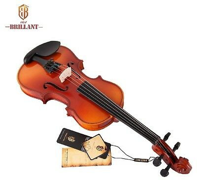 Brillant Student Violin Outfit 4/4 Size Comes with Hard Case, Bow and Rosin