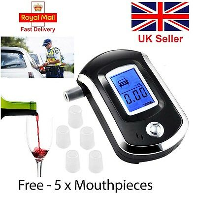 NEW Police Digital Breath Alcohol Analyzer Tester LCD Breathalyzer test detector