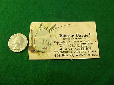 J.Jay Gould's Picture Store, Easter Cards Ornaments Decaloomanie Wash, D.C.