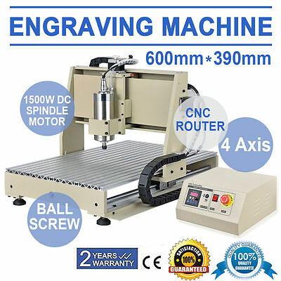 4 axis 6040 CNC Fräsmaschine Engraving Graviermaschine Router Cool Spindle Motor